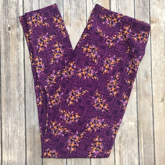 159ca821f61d6e LuLaRoe Pants | 2 For 30 Floral Tc Adult Leggings | Poshmark